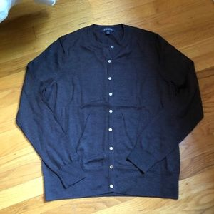 NWOT Brooks Brothers Brown Merino Wool Cardigan XL